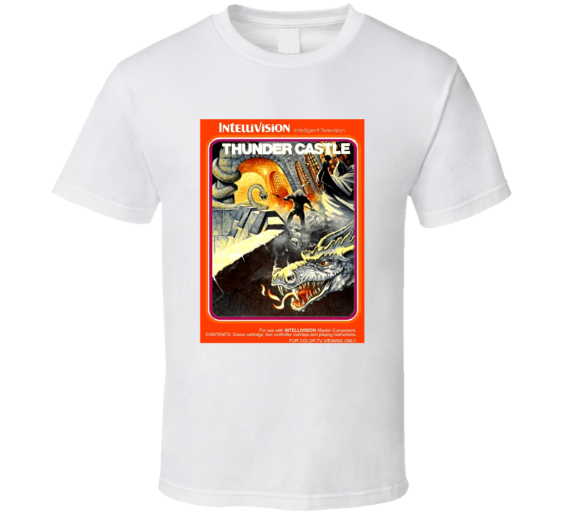 Thunder Castle 1980's Intellivision Popular Video Game Vintage Box T Shirt