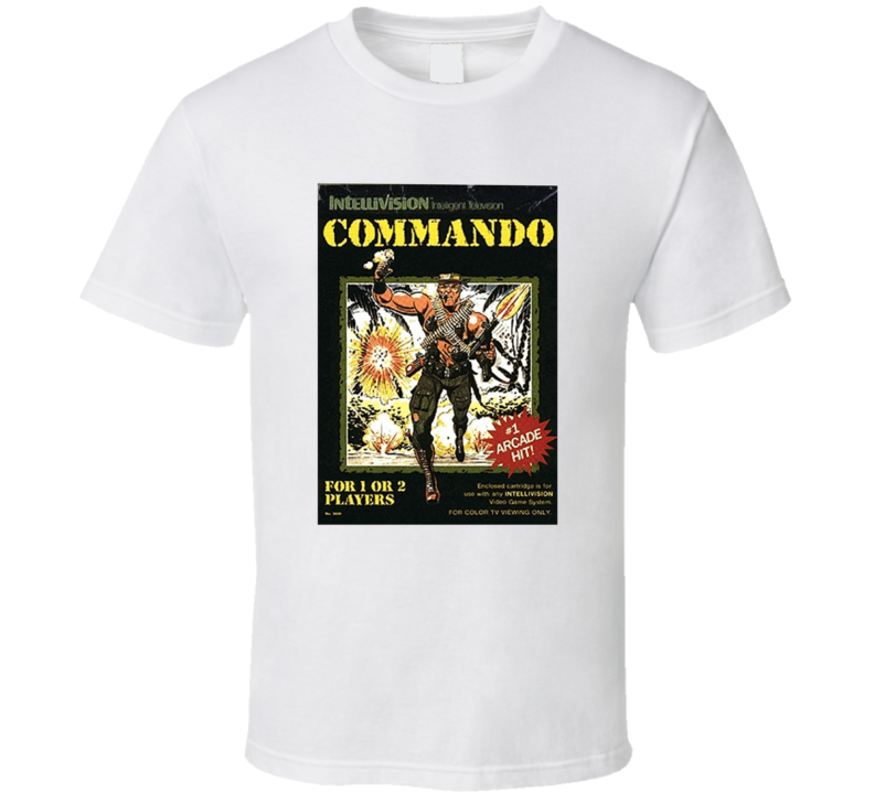 Commando 1980's Intellivision Popular Video Game Vintage Box T Shirt
