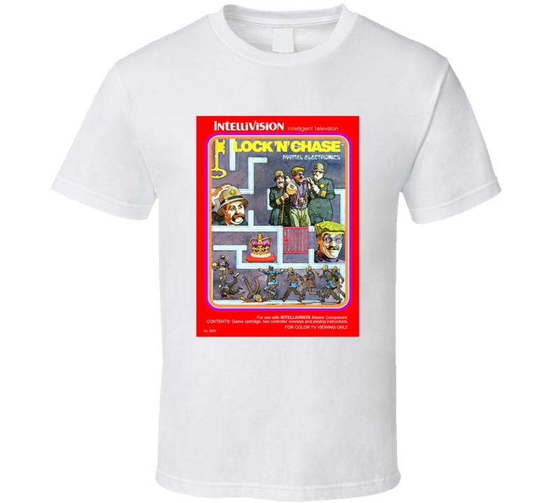 Lock 'n Chase 1980's Intellivision Popular Video Game Vintage Box T Shirt