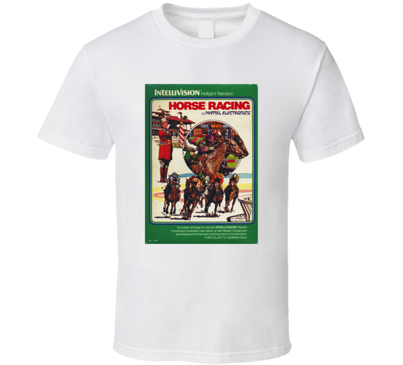 Horse Racing 1980's Intellivision Popular Video Game Vintage Box T Shirt