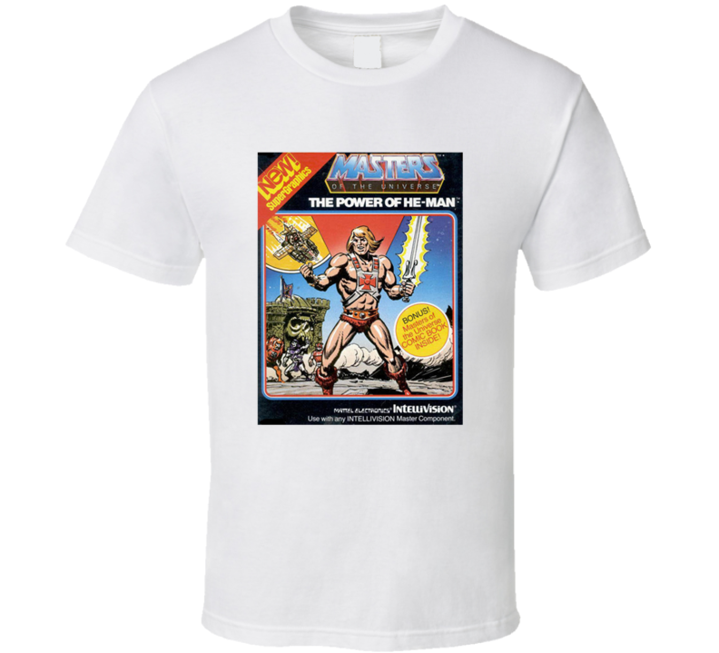 Masters Of The Univers The Power Of He-man 80's Intellivision Popular Video Game Vintage Box T Shirt