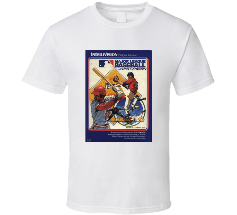 Major League Baseball 1980's Intellivision Popular Video Game Vintage Box T Shirt