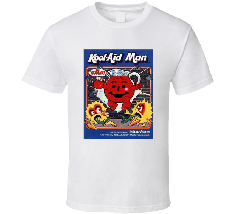 Kool-aid Man 1980's Intellivision Popular Video Game Vintage Box T Shirt