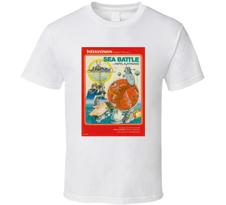 Sea Battle 1980's Intellivision Popular Video Game Vintage Box T Shirt