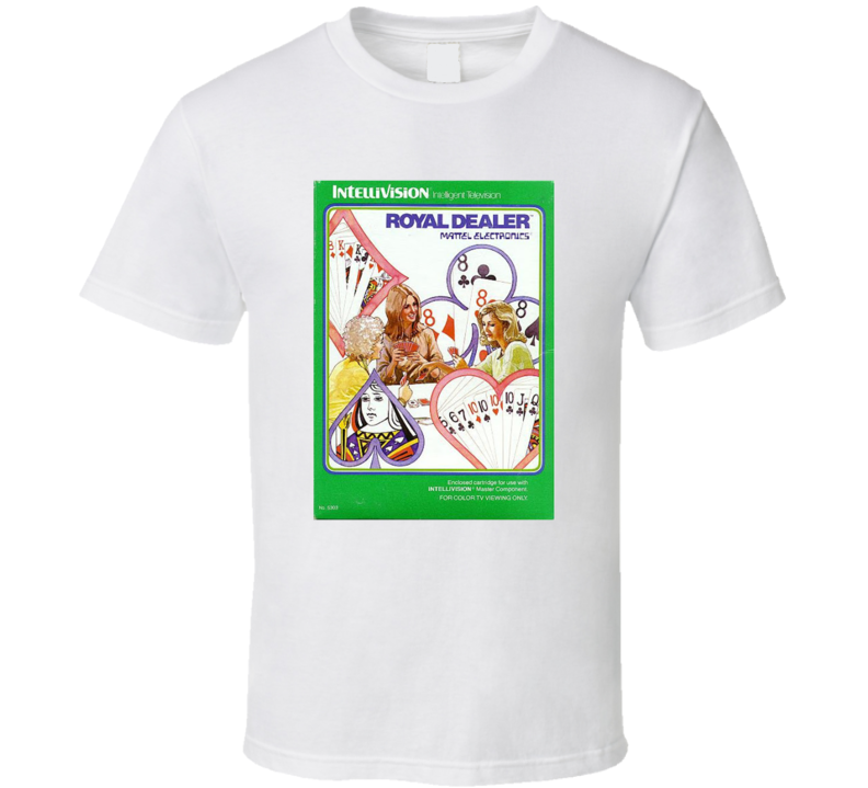 Royal Dealer 1980's Intellivision Popular Video Game Vintage Box T Shirt
