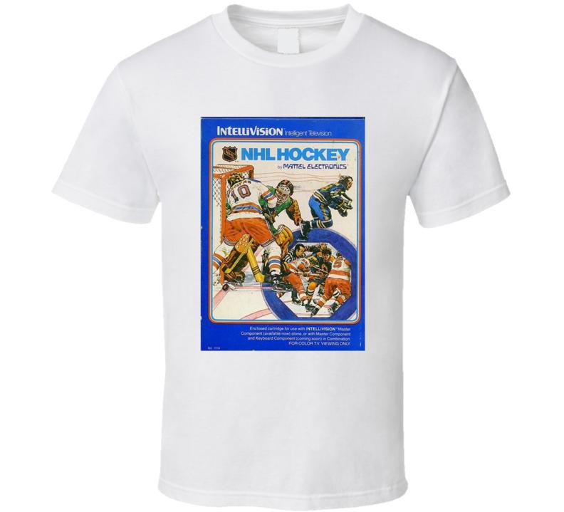 Nhl Hockey 1980's Intellivision Popular Video Game Vintage Box T Shirt