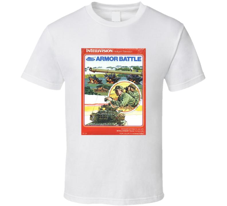 Armor Battle 1980's Intellivision Popular Video Game Vintage Box T Shirt