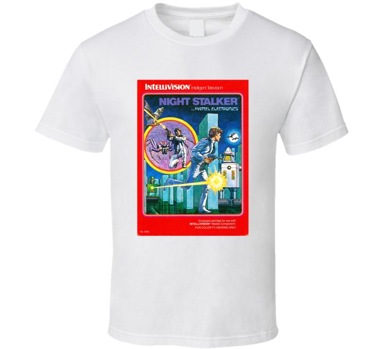 Night Stalker 1980's Intellivision Popular Video Game Vintage Box T Shirt
