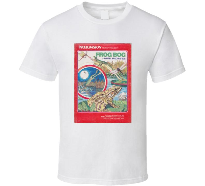 Frog Bog 1980's Intellivision Popular Video Game Vintage Box T Shirt