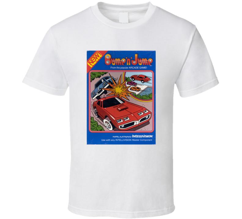 Bump 'n Jump 1980's Intellivision Popular Video Game Vintage Box T Shirt