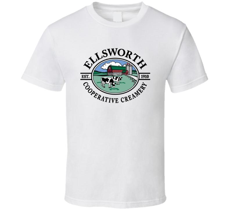 Ellsworth Cooperative Creamery Dairy Milk Producer T Shirt
