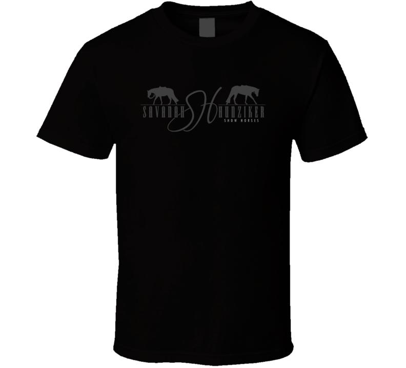 Savanah Hunziker Show Horses Logo T Shirt