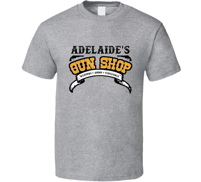 Adelaide Gun Shop Weapon Ammo Vengeance Firearm T Shirt