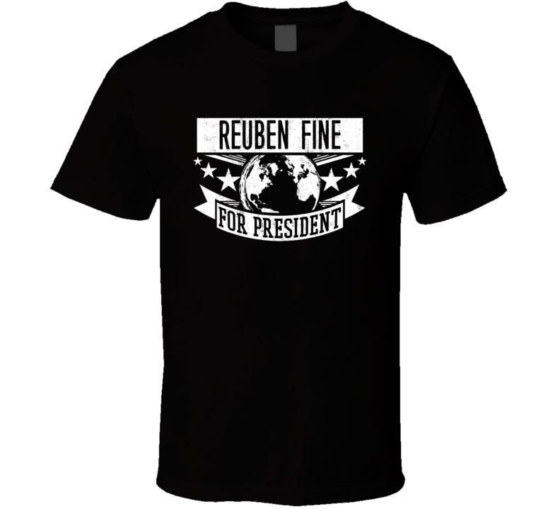 Reuben Fine For President Chess Hall Of Fame T Shirt