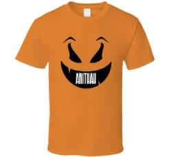 Arithah Funny Scary Pumpkin Custom Halloween Name T Shirt