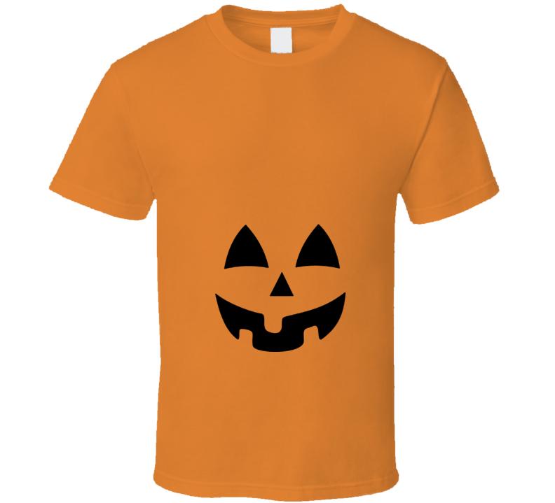 Pumpkin Jack O Lantern Halloween Costume Maternity Pregnant T Shirt