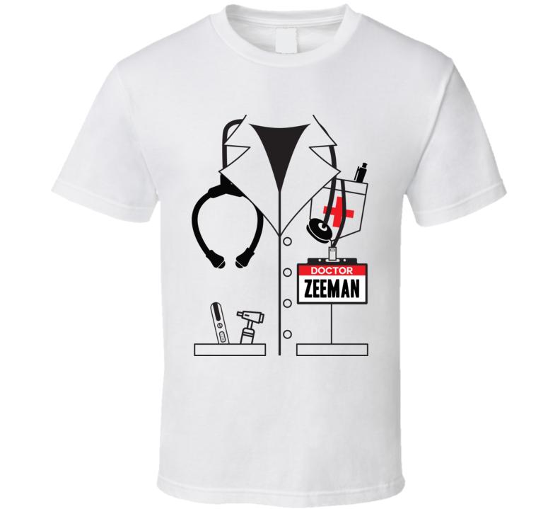 Zeeman Halloween.Doctor Zeeman Custom Name Halloween Costume T Shirt