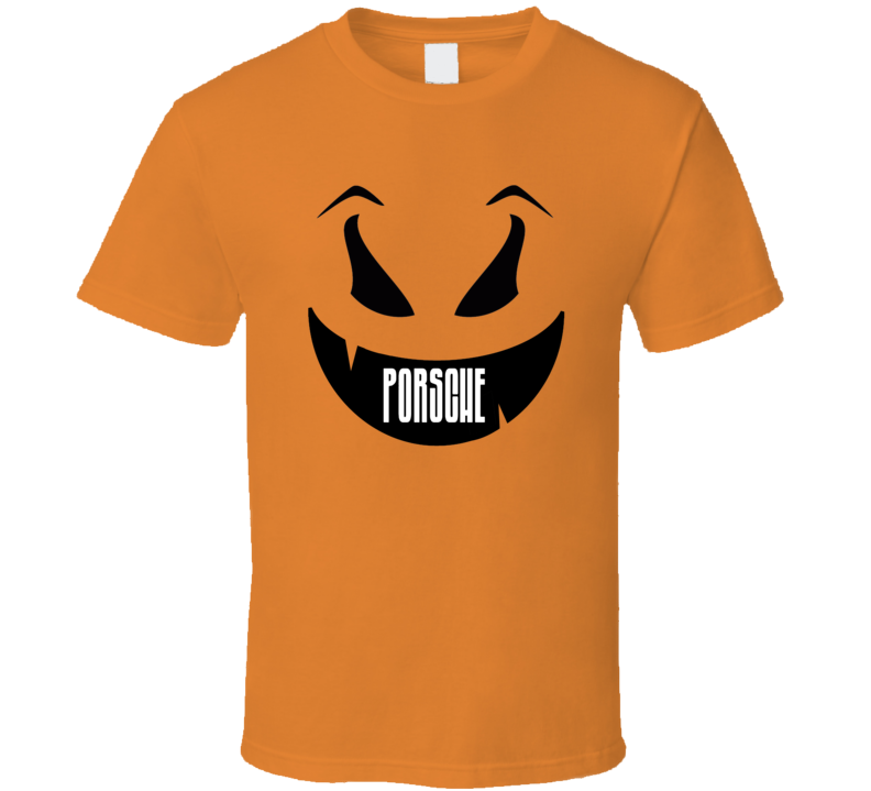 33c186c9e3 Porsche Funny Scary Pumpkin Custom Halloween Name T Shirt
