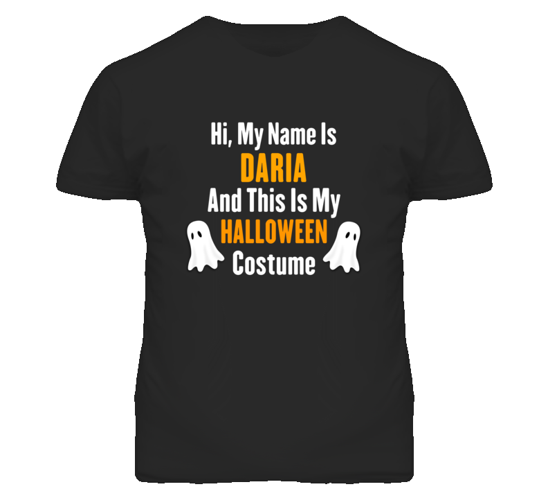 Hi My Name Is Daria Halloween Costume Fun T Shirt