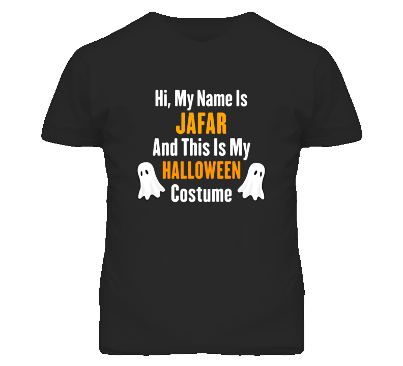 Hi My Name Is Jafar Halloween Costume Fun T Shirt