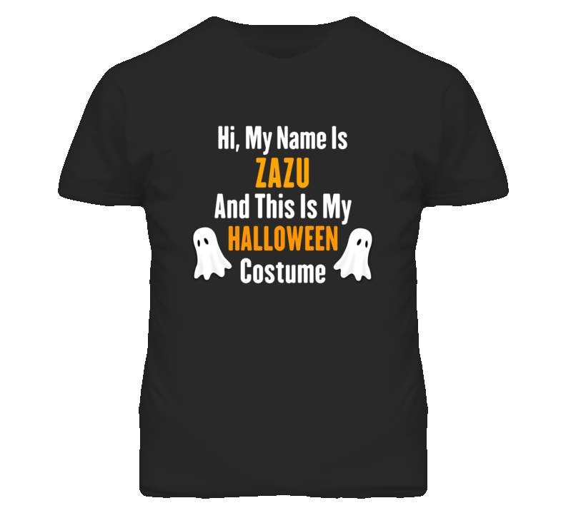 Hi My Name Is Zazu Halloween Costume Fun T Shirt