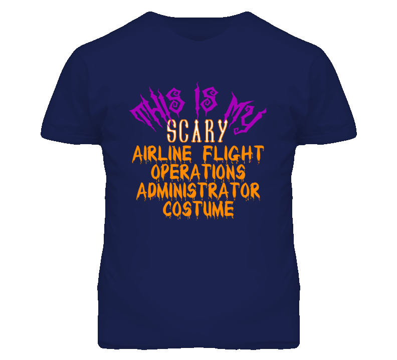 This Is My Scary Airline Flight Operations Administrator Costume Funny Halloween T Shirt