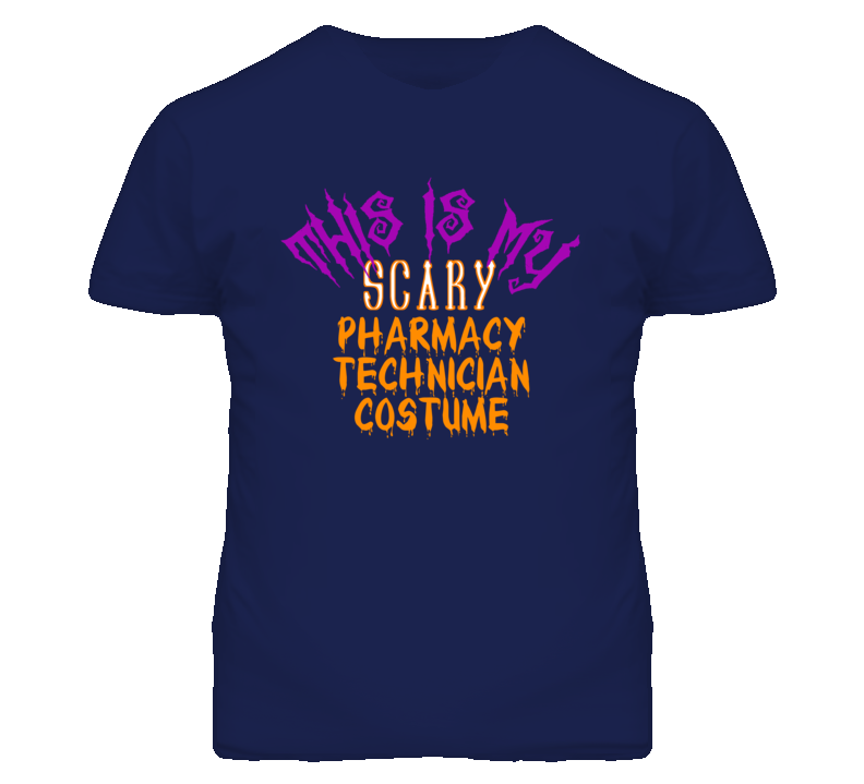 This Is My Scary Pharmacy Technician Costume Funny Halloween T Shirt