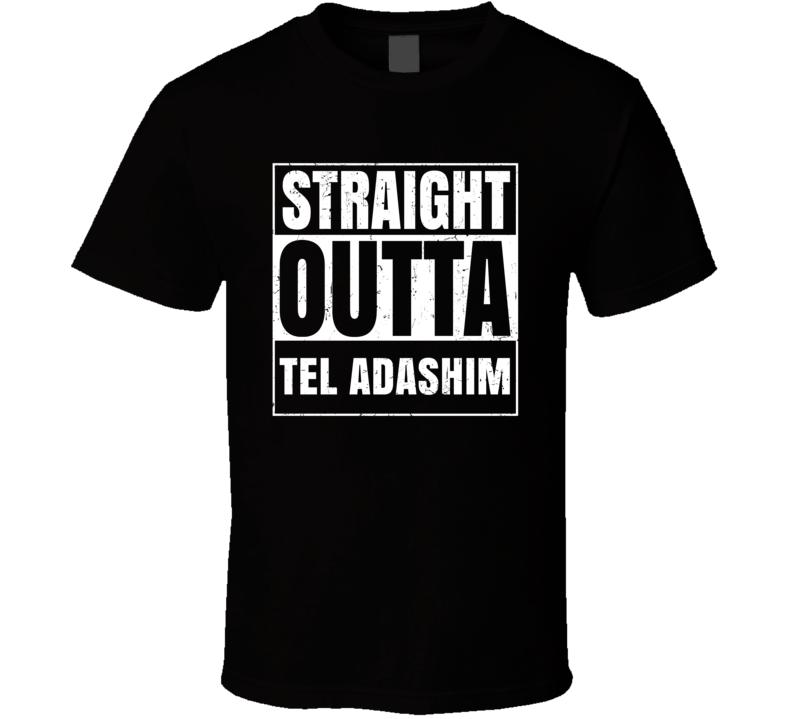 Straight Outta Tel Adashim Israel Hebrew City Compton Parody T Shirt