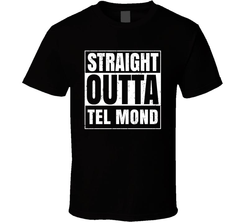 Straight Outta Tel Mond Israel Hebrew City Compton Parody T Shirt