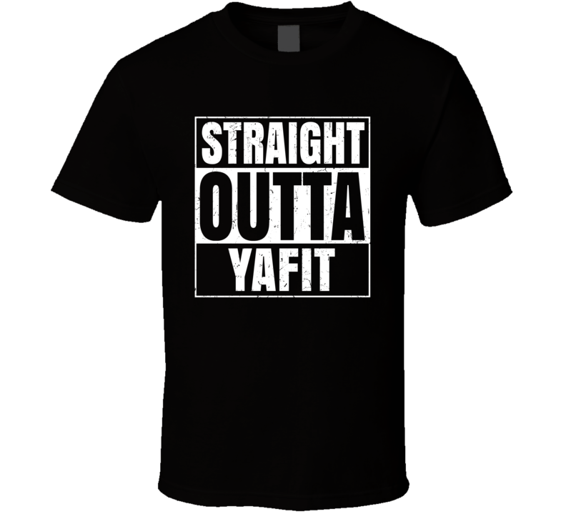 Straight Outta Yafit Israel Hebrew City Compton Parody T Shirt