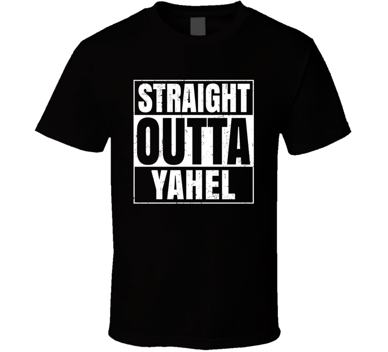 Straight Outta Yahel Israel Hebrew City Compton Parody T Shirt