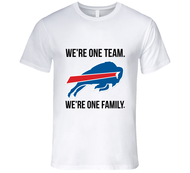 Buffalo Football Were One Team Were One Family Funny T Shirt