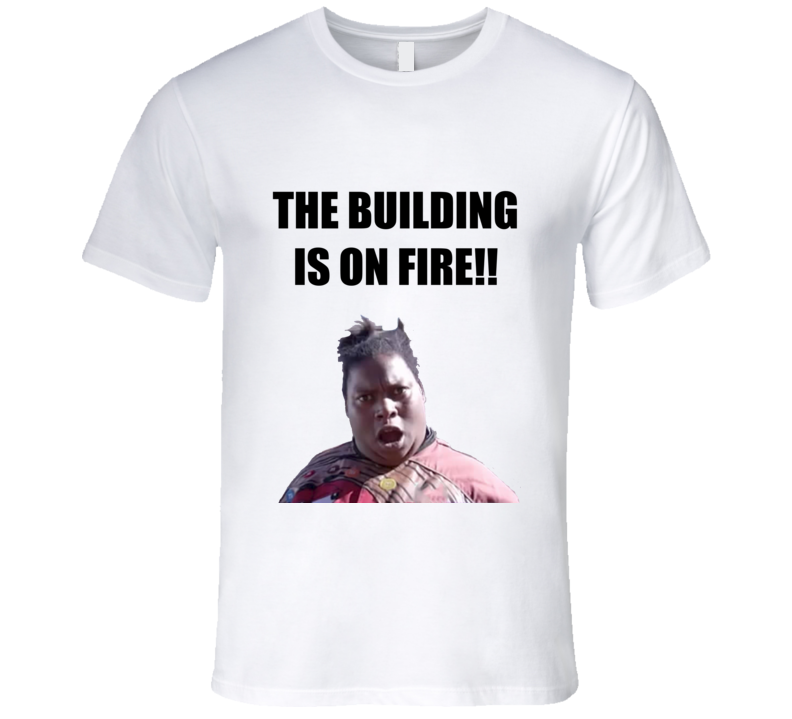 The Building Is On Fire Funny Meme T Shirt