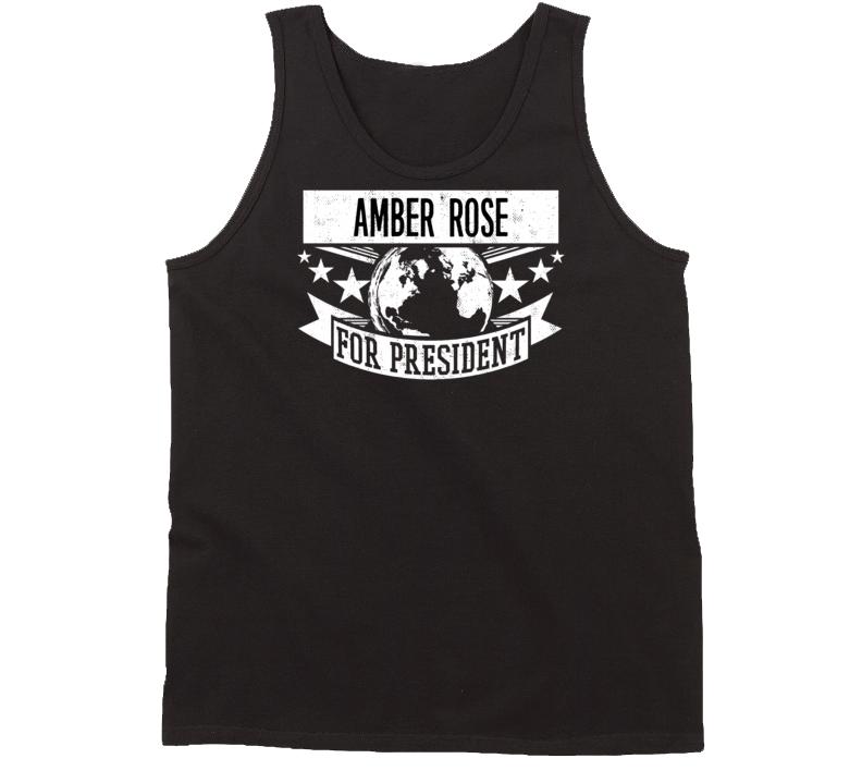 Amber Rose For President Slut Walk Trendy Muva Funny T Shirt