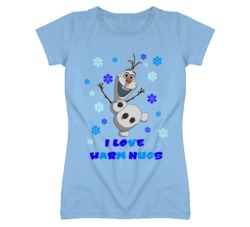 Olaf the Snowman From Frozen I love Warm Hugs T Shirt
