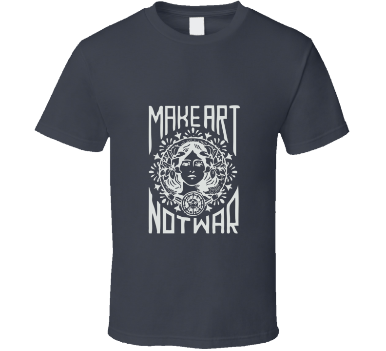 Make Art Not War Charcoal T Shirt