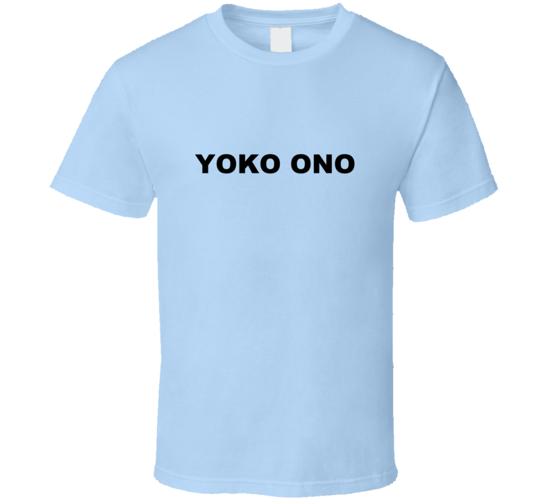 Yoko Ono Light Blue T Shirt