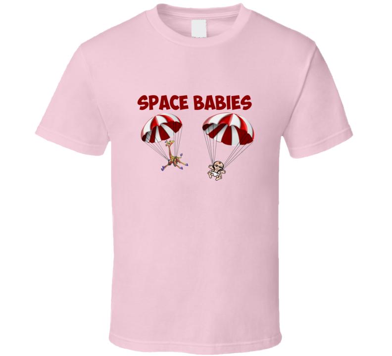 Space Babies Kia Super Bowl Commercial Light Pink T Shirt