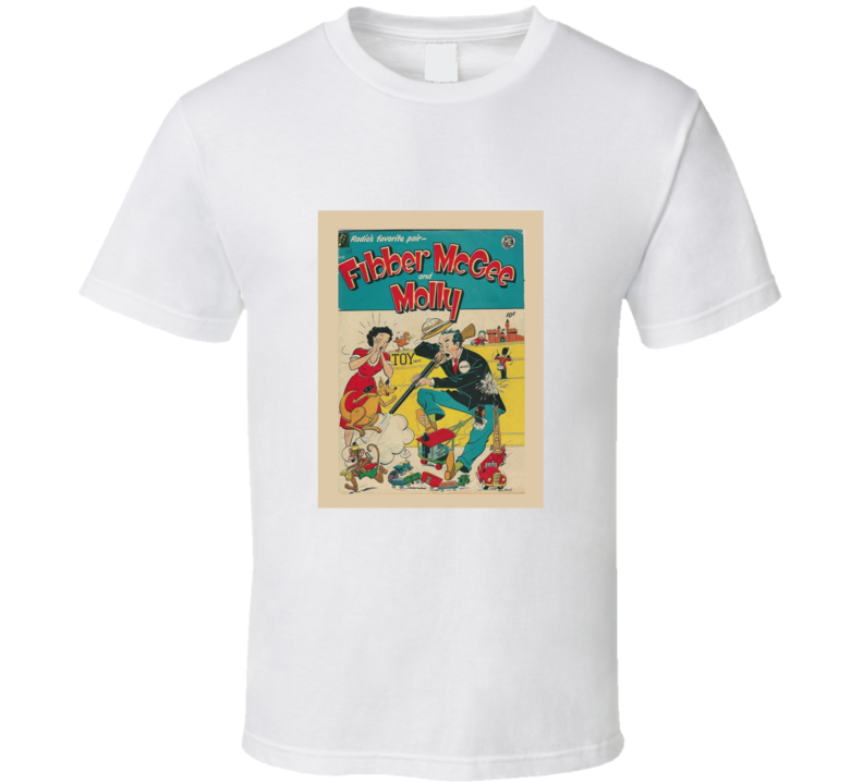 Fibber McGee and Molly Radio Show Retro T Shirt