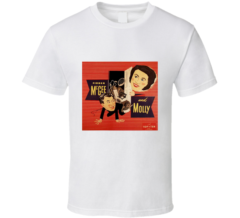 Fibber McGee and Molly Radio Show The Hall Closet Retro T Shirt