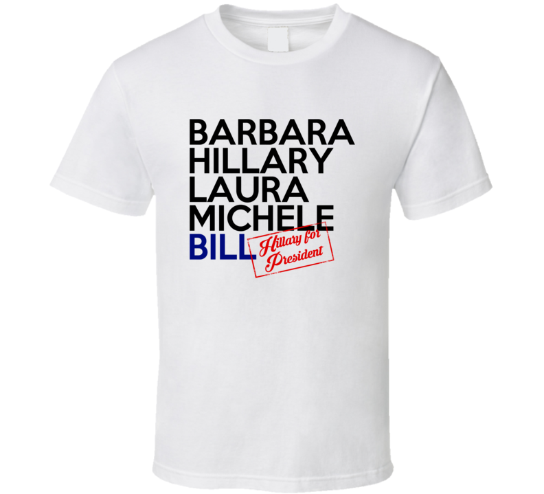 52efff8c8 Barbara Hillary Laura Michele Bill First Ladies Clinton For President ...