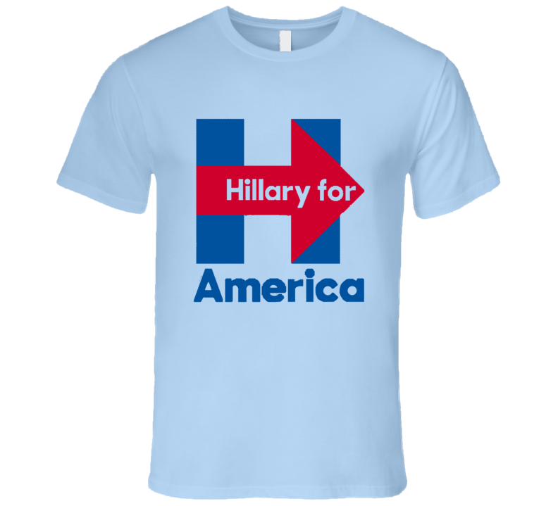 Hillary Clinton For American Campaign Presidential Logo T Shirt