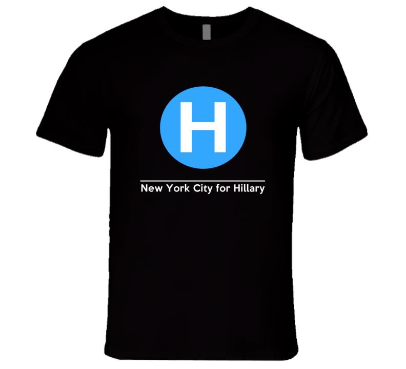 New York City For Hillary Clinton NY Train Style T Shirt