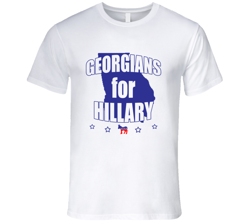Georgians For Hillary Clinton 2016 Democrat Georgia State Silhouette T Shirt