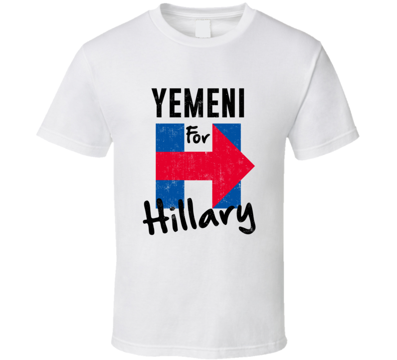 Yemeni For Hillary Clinton Patriotic Support 2016 Election T Shirt