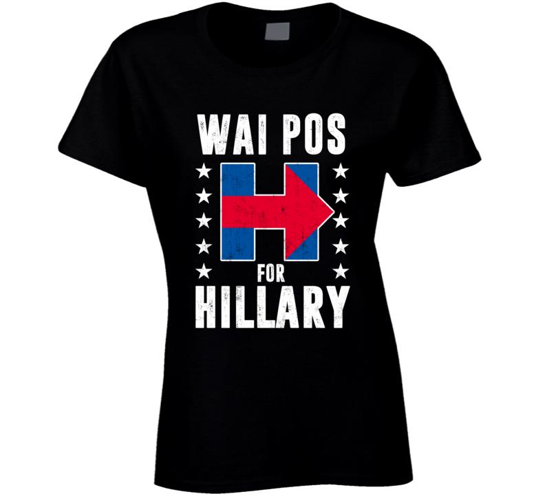 Wai po Chinese Mandarin Grandmother For Hillary Clinton President Election 2016 T Shirt