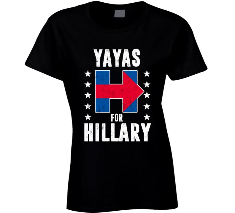 Yaya Greek  Grandmother For Hillary Clinton President Election 2016 T Shirt