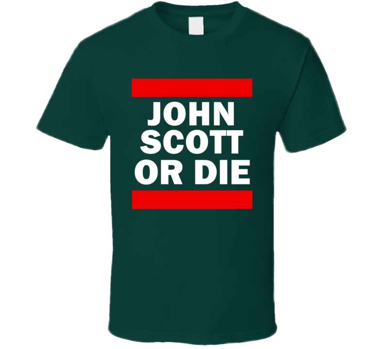 John Scott Or Die Minnesota Hockey T Shirt