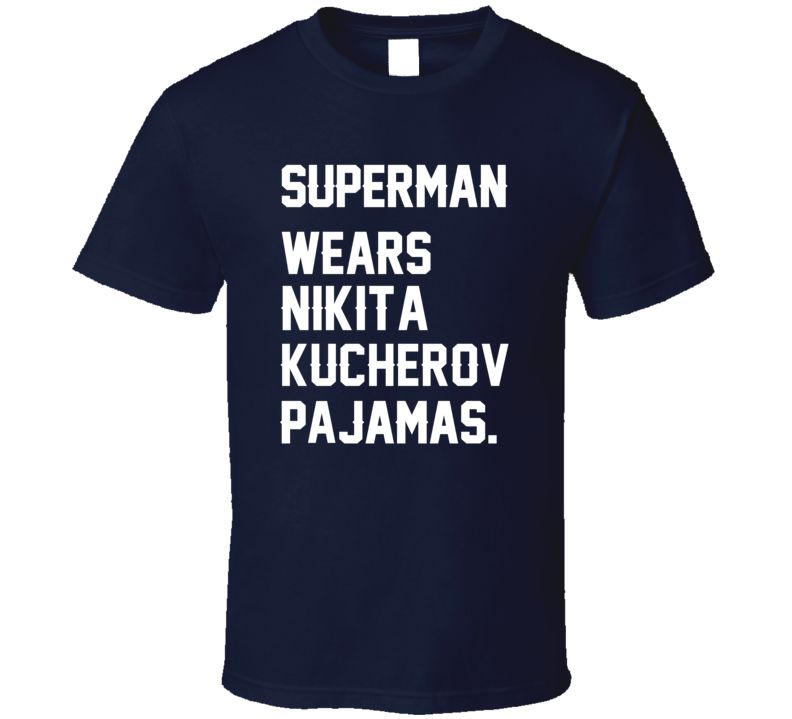 Superman Wears Nikita Kucherov Pajamas Tampa Bay Hockey Player T Shirt
