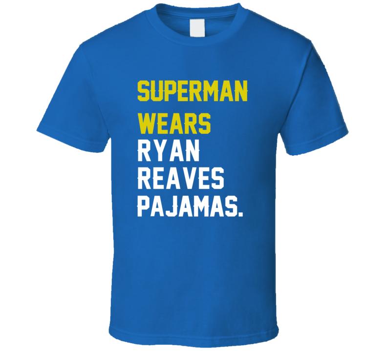 Superman Wears Ryan Reaves Pajamas St Louis Hockey Player T Shirt